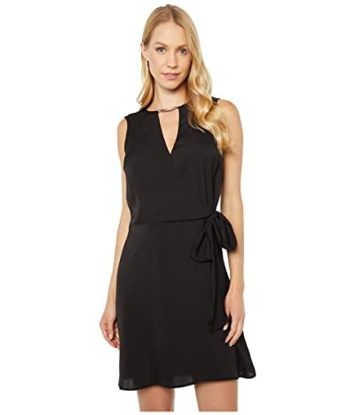 MICHAEL Michael Kors Crossover Dress (Black) Women