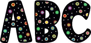 Creative Teaching Press Dots on Black 7-Inch Designer Letters (1229)