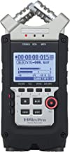 "Zoom H4n Pro 4-Track Portable Recorder, Stereo Microphones, 2 XLR/ ¼"" Combo Inputs, Guitar Inputs, Battery Powered, for St..."