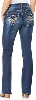 WallFlower Juniors Bling Pockets Luscious Curvy Bootcut Jeans