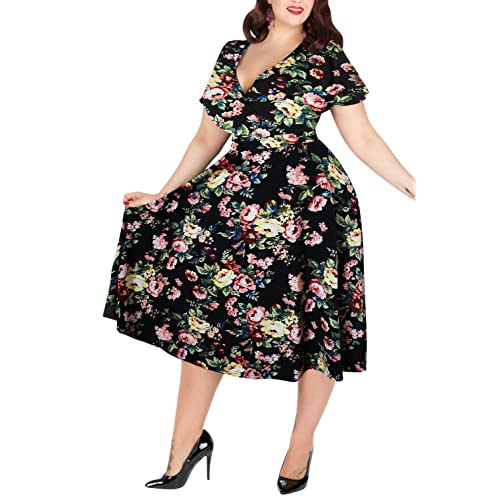 Plus Size Vintage Dresses: Amazon.co.uk