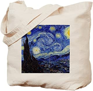 CafePress Starry Night By Vincent Van Gogh Natural Canvas Tote Bag, Reusable Shopping Bag