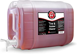 Adam's Tire & Rubber Cleaner - Removes Discoloration from Tires Quickly - Works Great on Tires, Rubber & Plastic Trim, and Rubber Floor Mats (5 Gallon)