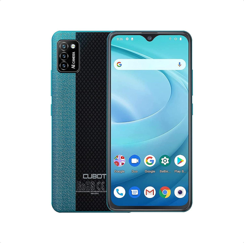 CUBOT Smartphone sin contrato, 5.5 ¨ 4G teléfono celular, Quad Core, Android 10, Dual SIM. Verde