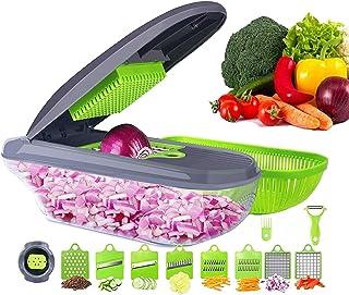 Sponsored Ad - Multifunctional Vegetable Cutter Fruit Slicer Grater Shredders Drain Basket Slicers,15 In 1 Gadgets Kitchen...