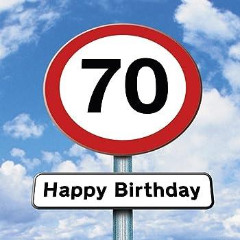 Biglietto Auguri Buon Compleanno Metal 70 Anni 12x17cm 1pz