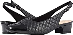 Black Soft Quilted Leather/Patent
