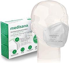 Medisana FFP2/KN95 10x Mascarilla de Protección Persona, Mascara antipolvo, RM 100, protección bucal de 3 capas, Máscara f...