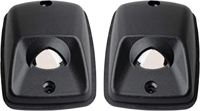 HERCOO License Plate Lights Lamp Lens Black Housing Compatible with 1995 1996 1997 1998 1999 2000 2001 2002 2003 2004 Toyota Tacoma Pickup Truck Rear Step Bumper Aftermarket Replacement, Pack of 2