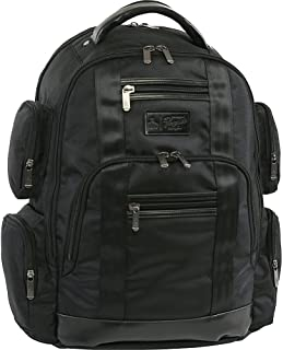 ORIGINAL PENGUIN Peterson Backpack Fits Most 15-inch Laptop and Notebook, Black, One Size
