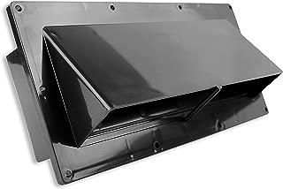 Leisure Coachworks RV Exhaust Vent Cover - RV Range Hood Vent/RV Range Hood Cover (1-Pack Black)