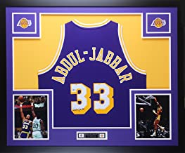Kareem Abdul-Jabbar Autographed Gold Lakers Jersey - Beautifully Matted and Framed - Hand Signed By Kareem Abdul-Jabbar and Certified Authentic by Beckett COA - Includes Certificate of Authenticity