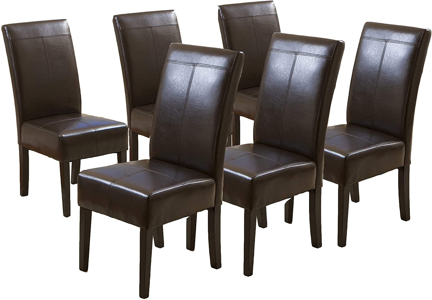 Christopher Knight online shopping Home Nashville-Davidson Mall Pertica Dining T-Stitch Chairs Leather