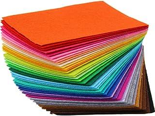 TRIXES lot de 40 feuilles de feutre multicolores pour des travaux d'art et d'artisanat - feutrine couleur pour loisirs cré...