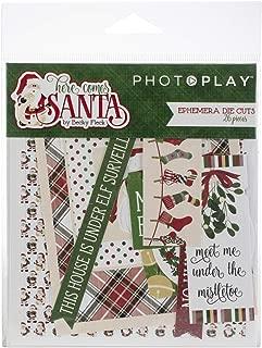 Photoplay Paper HCS8999 Here Comes Santa Ephemera Die-Cuts, 26 per Pack