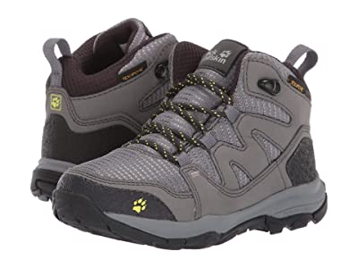 Jack Wolfskin Kids Mountain Attack 3 Texapore Mid (Toddler/Little Kid/Big Kid) (Tarmac Grey) Boys Shoes