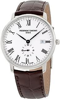 Frederique Constant Slimline Quartz Movement White Dial Men's Watch FC-245WR5S6DBR