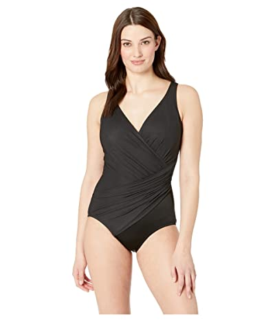 Miraclesuit Solid DD-Cup Oceanus One-Piece (Black) Women