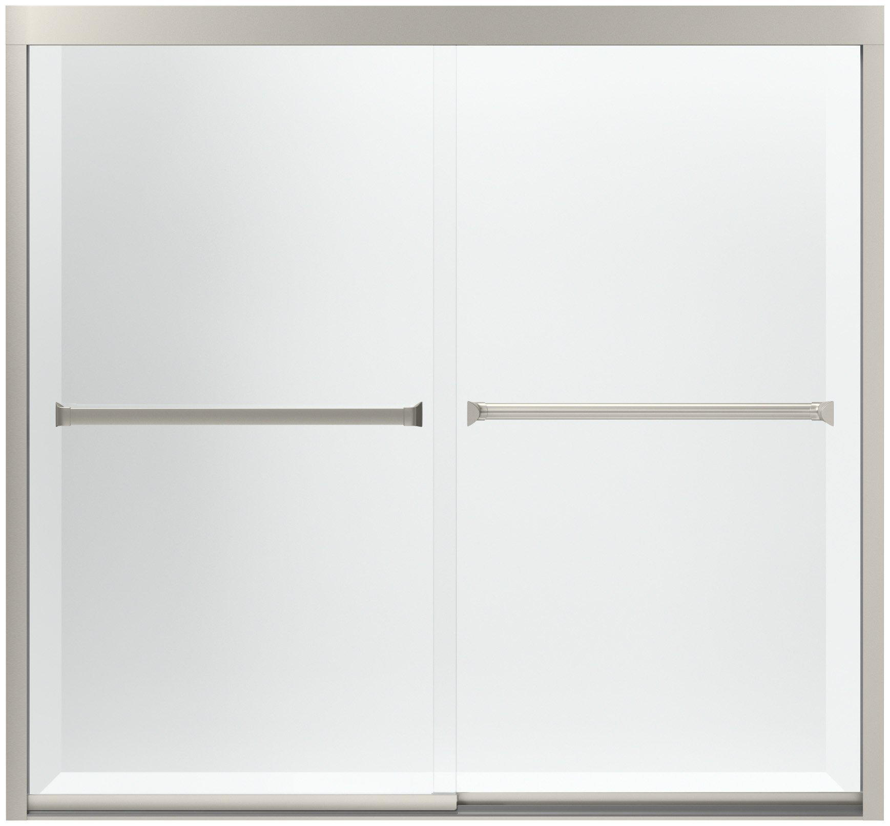 Sterling 581005 – 59 N-g05 meritor sin marco puerta corrediza de baño con suave textura de cristal transparente/, 59 – 3/8 x 55 – 1/8-inch, níquel: Amazon.es: Bricolaje y herramientas