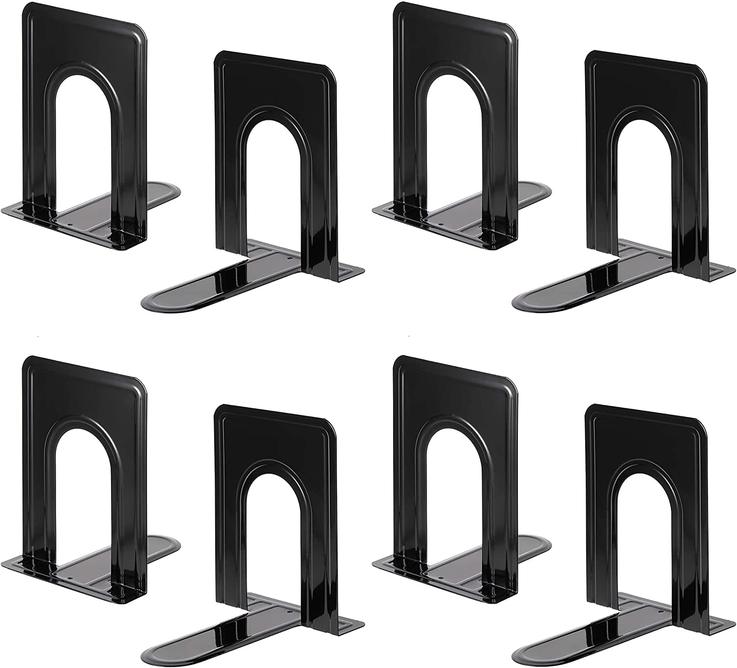 Heavy Duty Save money Max 54% OFF Bookends for Shelves Great Base Black fo Anti-Slip