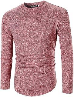 1142527adda53 OrchidAmor Fashion Swag Cozy Men s O Neck Casual Slim Long Sleeve Shirt Top  Blouse