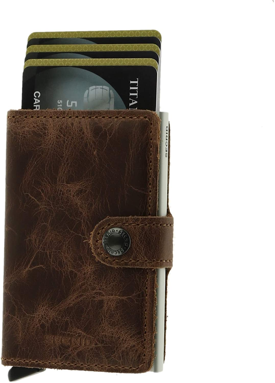Secrid - Mini Wallet Genuine Leather RFID Safe Card Case for max 12 Cards