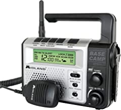 Midland - XT511, 22 Channel Emergency Crank Base Camp Radio - 5 Watt GMRS Two-Way Radio with 5 Power Options, 121 Privacy ...