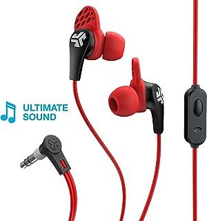 JLab Audio JBuds Pro Signature Earbuds   Titanium 10mm Drivers   Music Controls, Universal Mic   Custom Fit with Cush Fins   Red