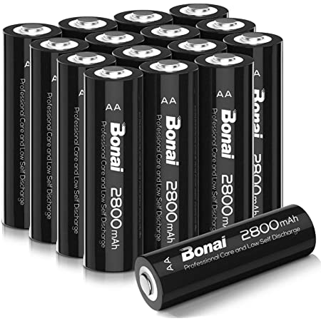 BONAI 単3形 充電池 充電式ニッケル水素電池 16個パック(超大容量2800mAh 約1200回使用可能)液漏れ防止設計 自然放電抑制 環境友好タイプ