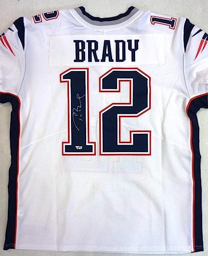 Tom Brady Autographed New England Patriots Nike Elite Jersey ...