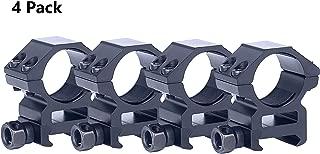 Tenako Scope Rings 1 Inch Medium Profile Scope Mounts for Picatinny Weaver Rail 4 Pack
