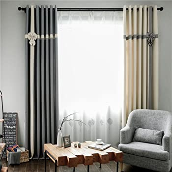 clichtg algodón y lino + Blanca hilo 209 cortinas costuras cortinas opaca con ojales para dormitorio salón restaurante Balcón 2 unidades, 245 cm x 140 cm (H x B), 2 unidades): Amazon.es: Bebé