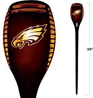 NFL Philadelphia Eagles 36 Inch Tall LED Torch Light - Emulates Flickering Flames - Auto On & Off Outdoor Waterproof Lands...