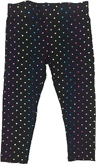 Kids Rainbow/Black Foil Heart Allover Print Leggings 2T