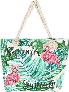 BJ-SHOP BJ-SHOP Strandtasche,Badetasche Grobe Feiertags Einkaufstasche Sommer Segeltuch Reise Umhangetasche mit Reibverschluss Einkaufstasche fur Madchen Damen Frauen