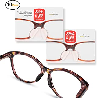 SMARTTOP Eyeglass Nose Pads,10 Pairs Soft Silicone Self Adhesive Thin Nose Pad for Eyeglasses Sunglasses Reading Glasses (1mm,Clear)