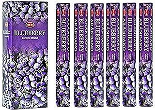 Blueberry - Box of Six 20 Stick Tubes, 120 Sticks Total - HEM Incense