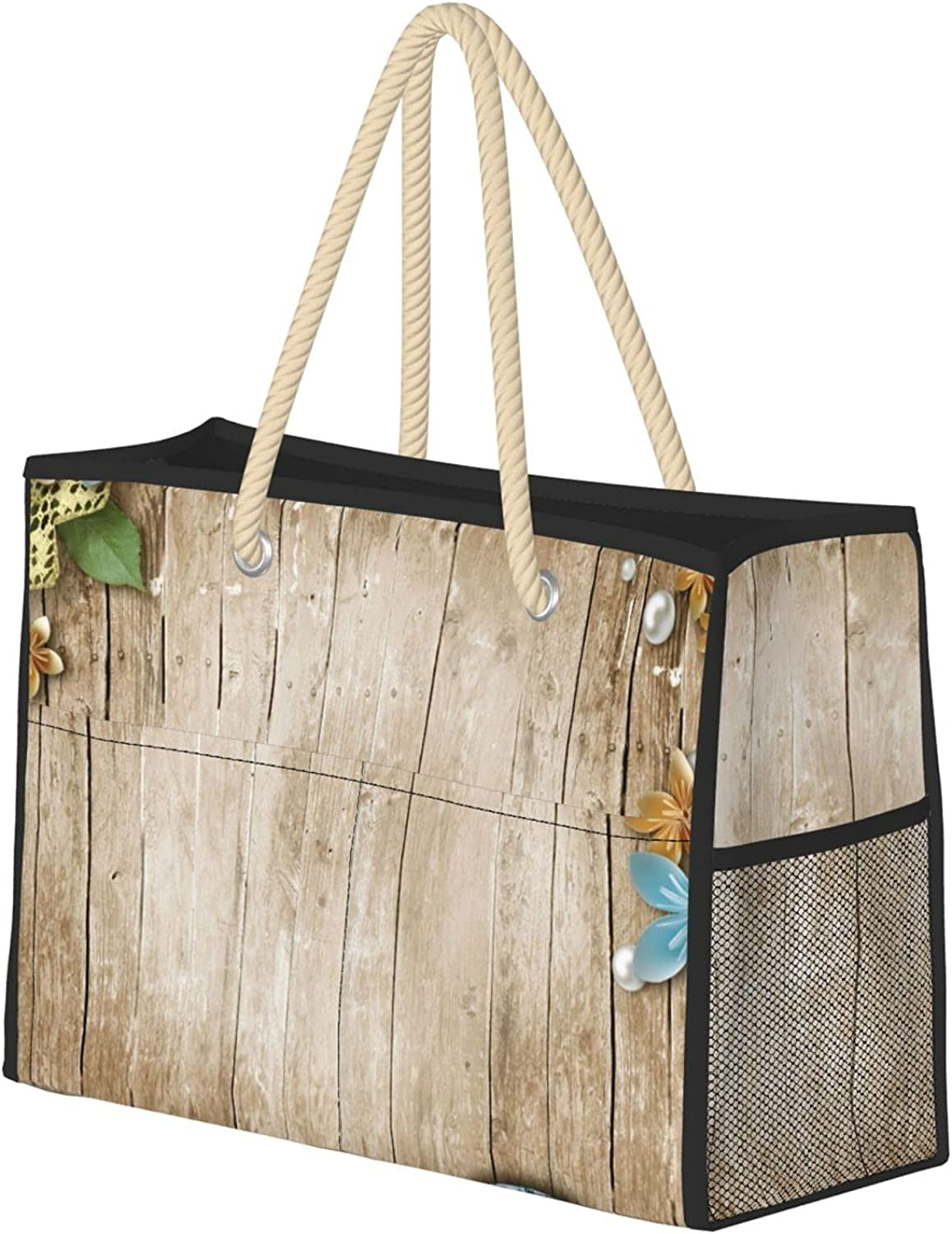 Old Finally resale start Wooden Background Women Beach Utility Re Travel Tote Bag Max 52% OFF
