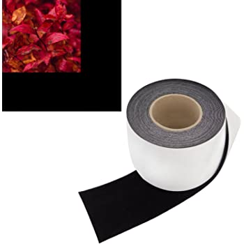 4 in x 30 ft - Vibrancy Enhancing Projector Felt Tape Border - by ConClarity – Deepest Black Ultra High Contrast Felt Tape for DIY Projector Screen Borders Absorbs Light, Brightens Image & Stops Bleed
