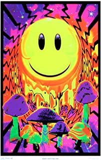 Opticz Have a Nice Trip Flocked Blacklight Poster 23 x 35in - coolthings.us