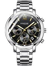 BesTn出品 腕時計 メンズ クオーツ 電池付き ストップウォッチ 日付 夜光 防水 ビジネスマン