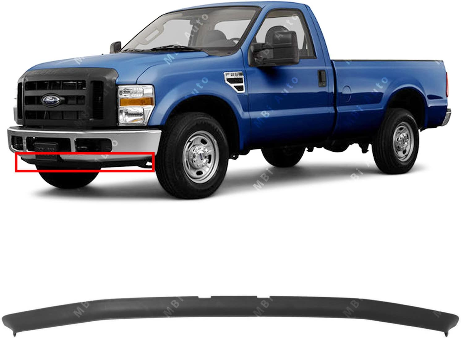 Amazon Com Mbi Auto Textured Dark Gray Front Bumper Lower Air Deflector Valance For 2008 2010 Ford F250 F350 Super Duty 2wd 08 10 Fo1093114 Automotive