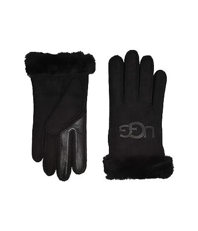 UGG Water Resistant Sheepskin Logo Gloves (Black) Extreme Cold Weather Gloves