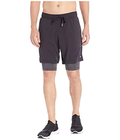 ALO Unity 2-in-1 Shorts (Black/Dark Grey Marl) Men