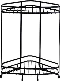 【BLKP】 パール金属 2段 コーナー スタンド 風呂 収納 限定 ブラック BLKP 黒 AZ-5077