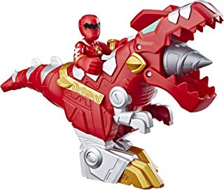 """Playskool Heroes Power Rangers Red Ranger & T-Rex Zord 2 Pack, 3"""" Action Figure & Zord Set, Collectible Toys for Kids Ages 3 & Up"""