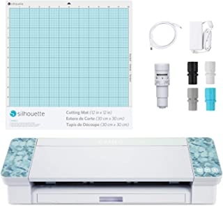 Silhouette Cameo 4 with Bluetooth, 12×12 Cutting Mat, Autoblade 2, 100 Designs and..