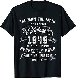 1949 The Man Myth Legend 70 Years Old 70th Birthday Shirt A4