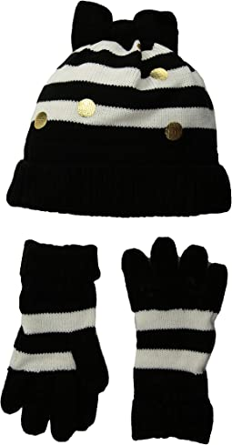 Bow Hat and Gloves Set (Big Kids)