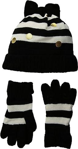 Bow Hat and Gloves Set (Big Kids)